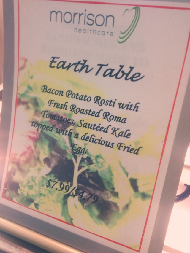 Earth Day Menu