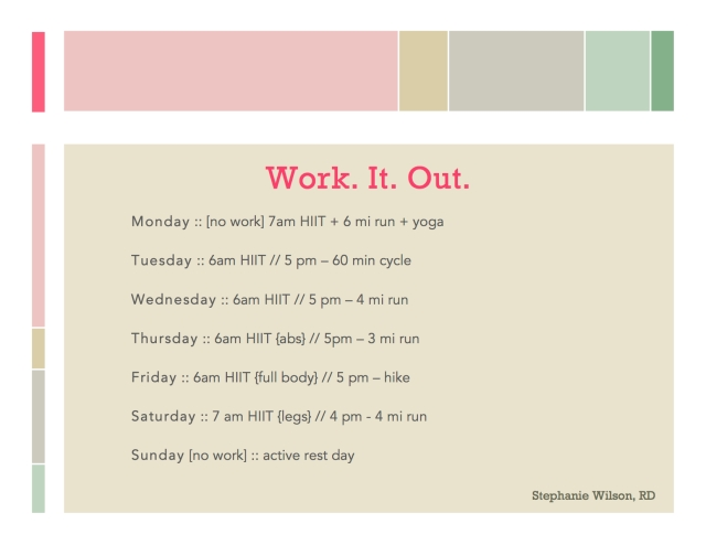 Workout 4.14 4.20