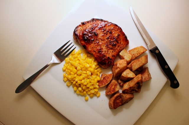 recipe healthy pork chops and sweet potatoes