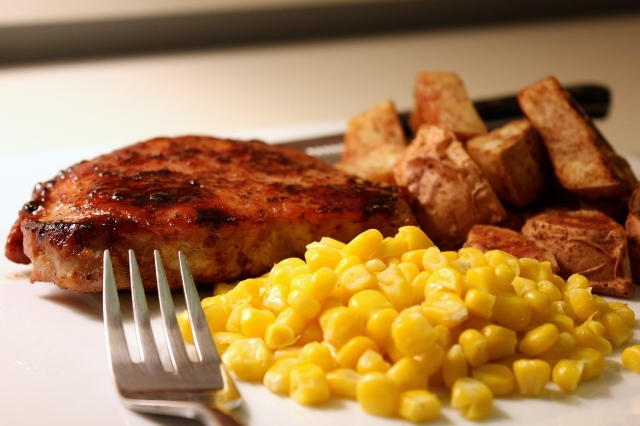recipe pork chop sweet potato corn